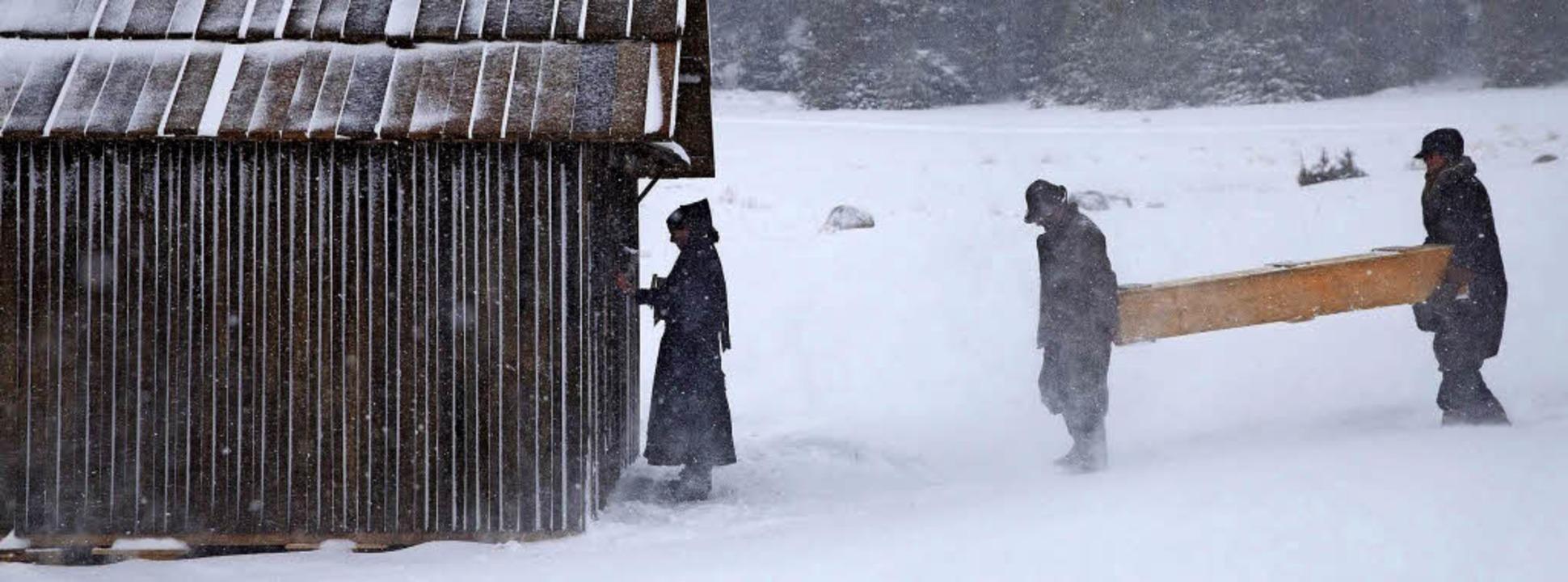 """Filmszene aus """"Schneeblind&#8220...e im Februar 2016 auch am Schluchsee.     Foto: Wood Water Films"""