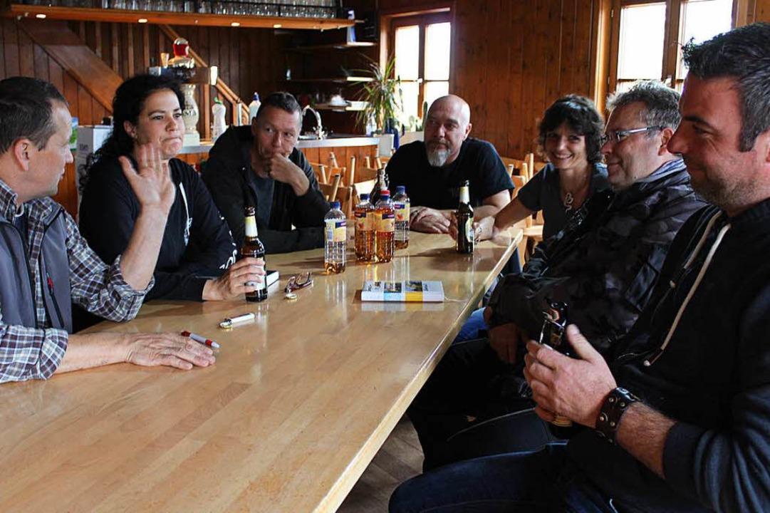 Stefan Martin (von links), Christine M...gartner, Frank Kaiser und Tobias Jautz  | Foto: Erich Krieger