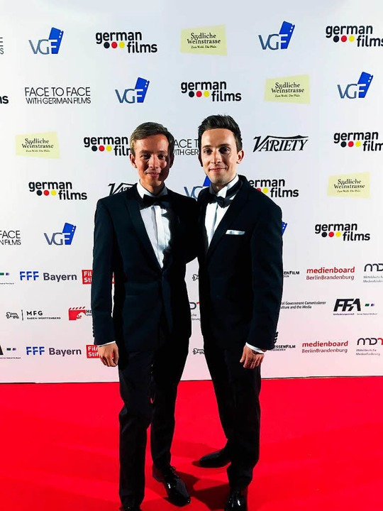 Leonard Küßner (li.) und Oliver Krause in Cannes   | Foto: Christoph Schumann