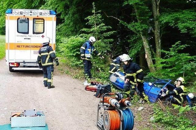 Verrücktes Ende eines Wendemanövers in Langenau