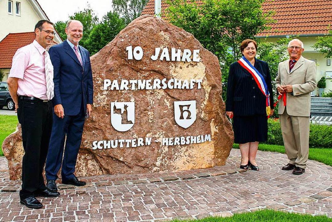 Übergabe des neuen Herbsheimer-Platzes...Herbsheim am 31. Mai 2008 in Schuttern  | Foto: Ekkehard Klem