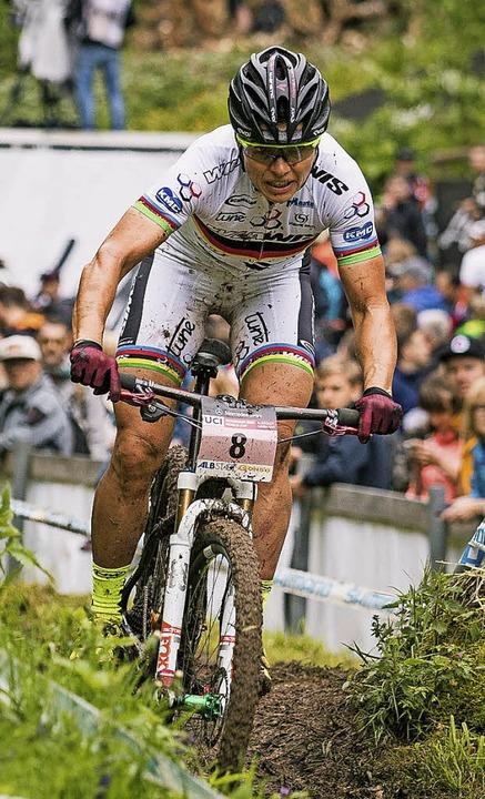 Ohne Fortune:  Sabine Spitz stieg beim Rennen in Albstadt aus.  | Foto: Sternemann (Ego-Promotion)
