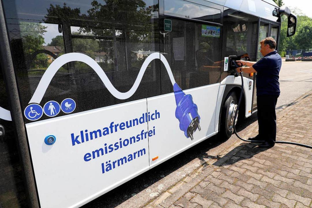 Der Lahrer Elektrobus  | Foto: Christoph Breithaupt