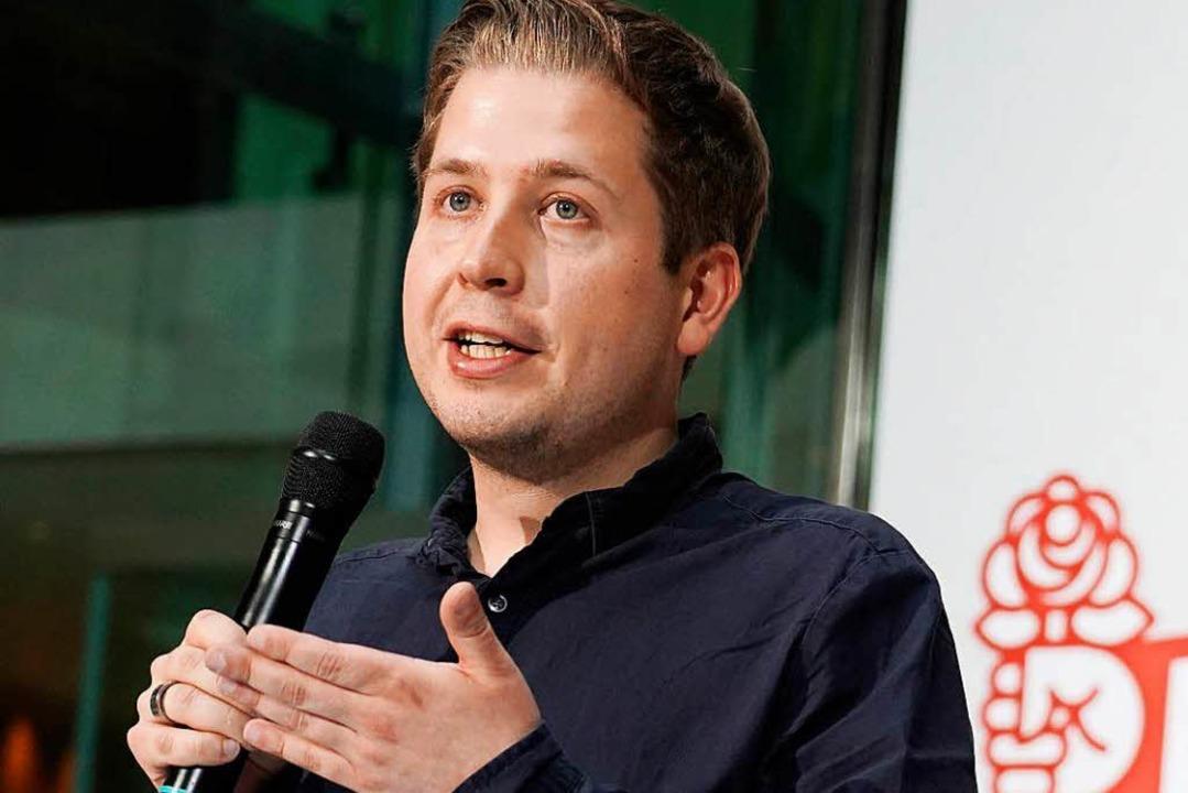 Kritiker der SPD-Spitze: Juso-Chef Kevon Kühnert.     Foto: DPA