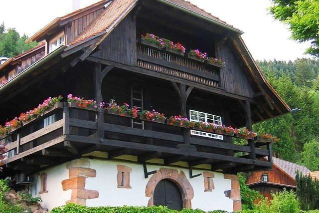 Im Martinsteinhiesli bei Gengenbach gibt es Bratwurst vom Hirsch