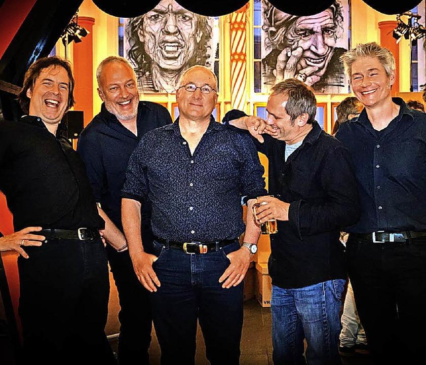 Die Rolling Bones bei ihrem Auftritt :...häfer, Holger Schütt und Sven Schulz.     Foto: Sparkasse