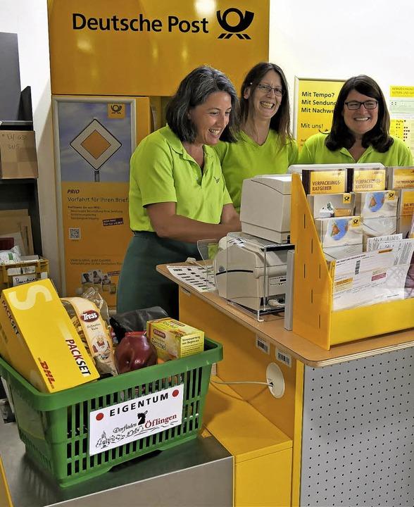 Anja Lehmann, Christine Kern und Birgi... und Poststelle noch positiv auswirkt.  | Foto: Jörn Kerckhoff