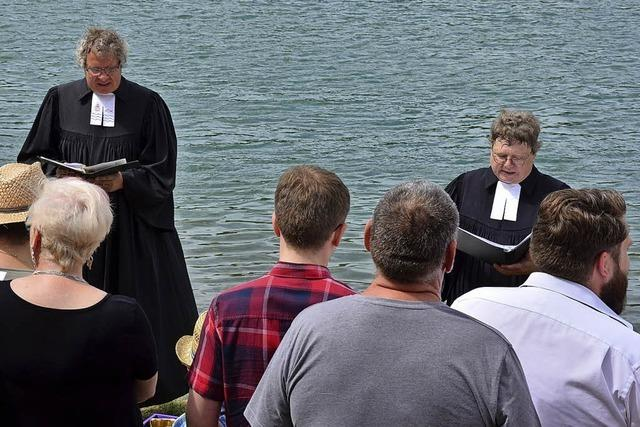 Taufe mit Rheinwasser