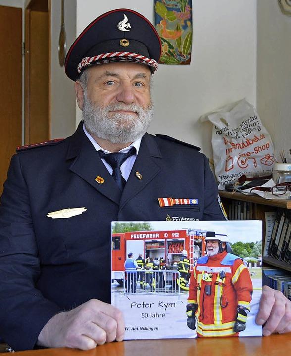 Peter Kym war mehr als fünfzig Jahre aktiver Feuerwehrmann.     Foto: Gollin