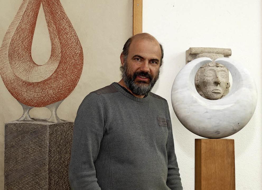 Frank Rothbächer in seiner Werkstatt     Foto: Frank Leonhardt