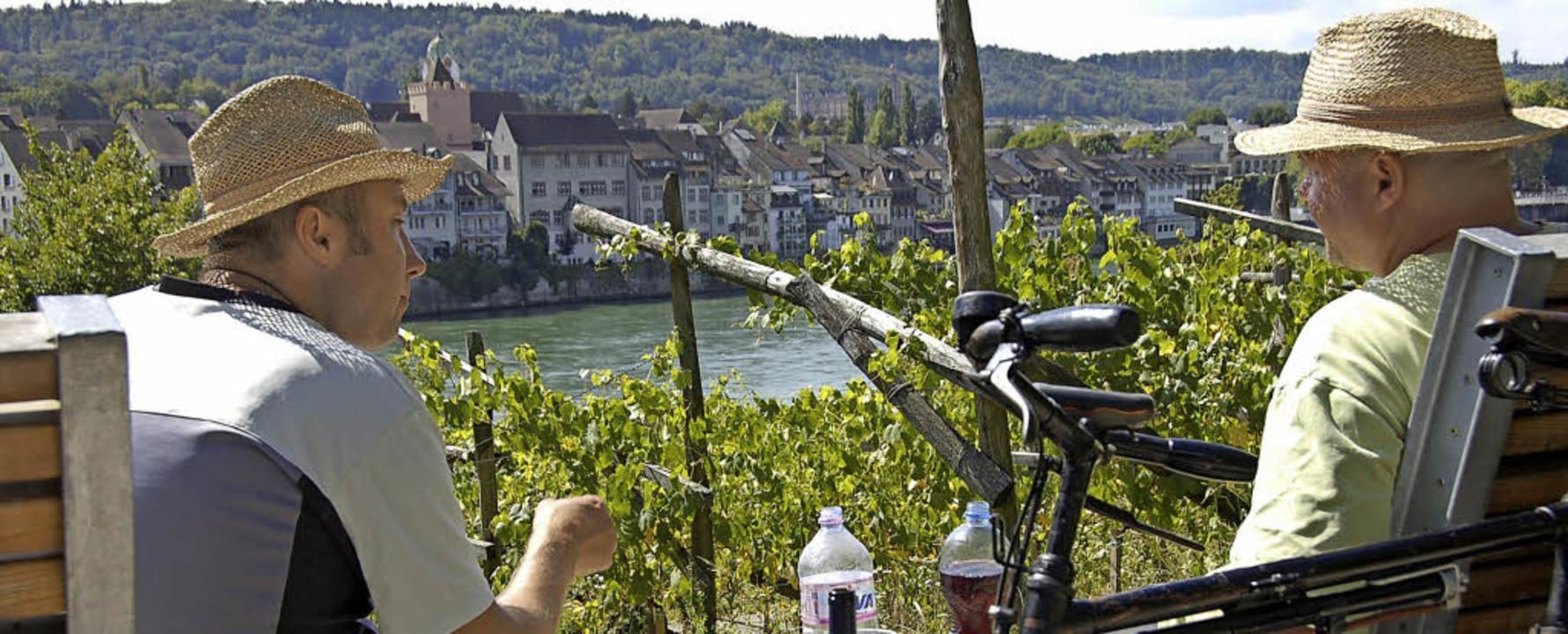 Auch die Nachbarstadt Rheinfelden prof... vom Radtourismus entlang des Rheins.   | Foto: Peter Gerigk/Horatio Gollin