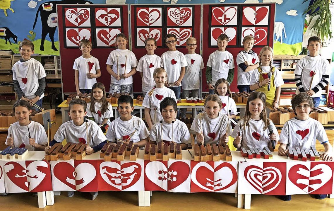 Die Klasse 4a der Johanniterschule Hei...linik  Freiburg  einen ersten  Platz.     Foto: Privat