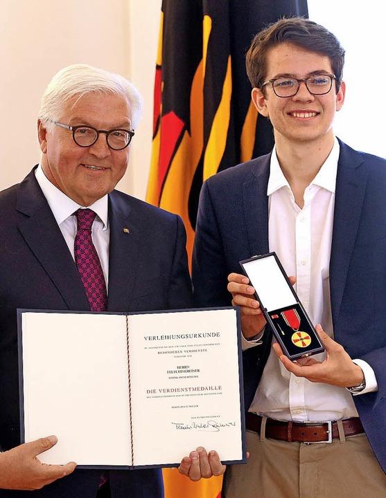 Von Bundespräsident Frank-Walter Stein...kbeiner von Bayern an den Hochrhein.    | Foto:  Wolfgang Kumm (dpa)