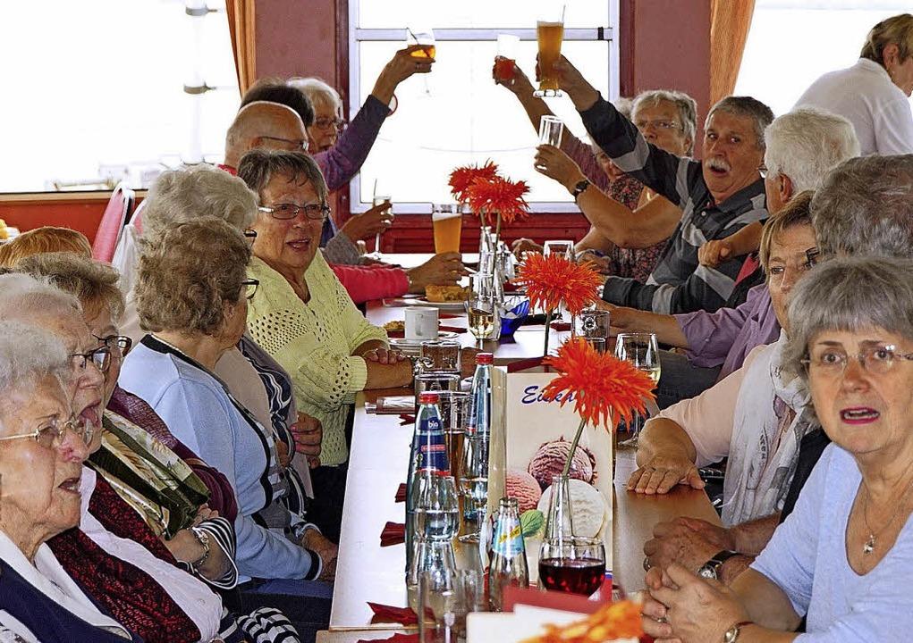 Die Senioren aus Breisach, Neuf-Brisac...m gemeinsamen  Ausflug auf dem Rhein.   | Foto: Privat