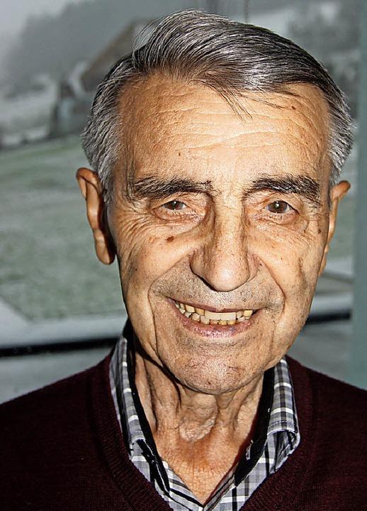 Sigmund Burger Bild vom 90. Geburtstag.     Foto: Roland Gutjahr