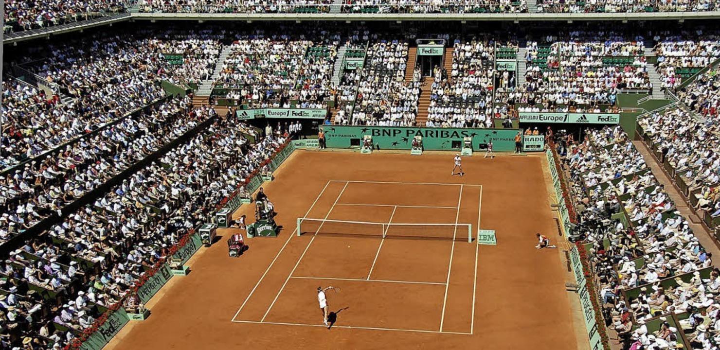In den kommenden Tagen das Mekka der T... der Anlage von Roland Garros in Paris    Foto: dpa