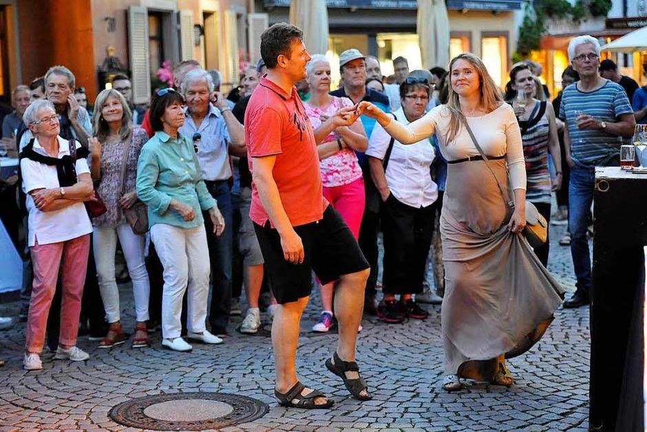 Impressionen vom Musikfestival Wein und Musik in der Staufener Altstadt (Foto: Hans-Peter Müller)