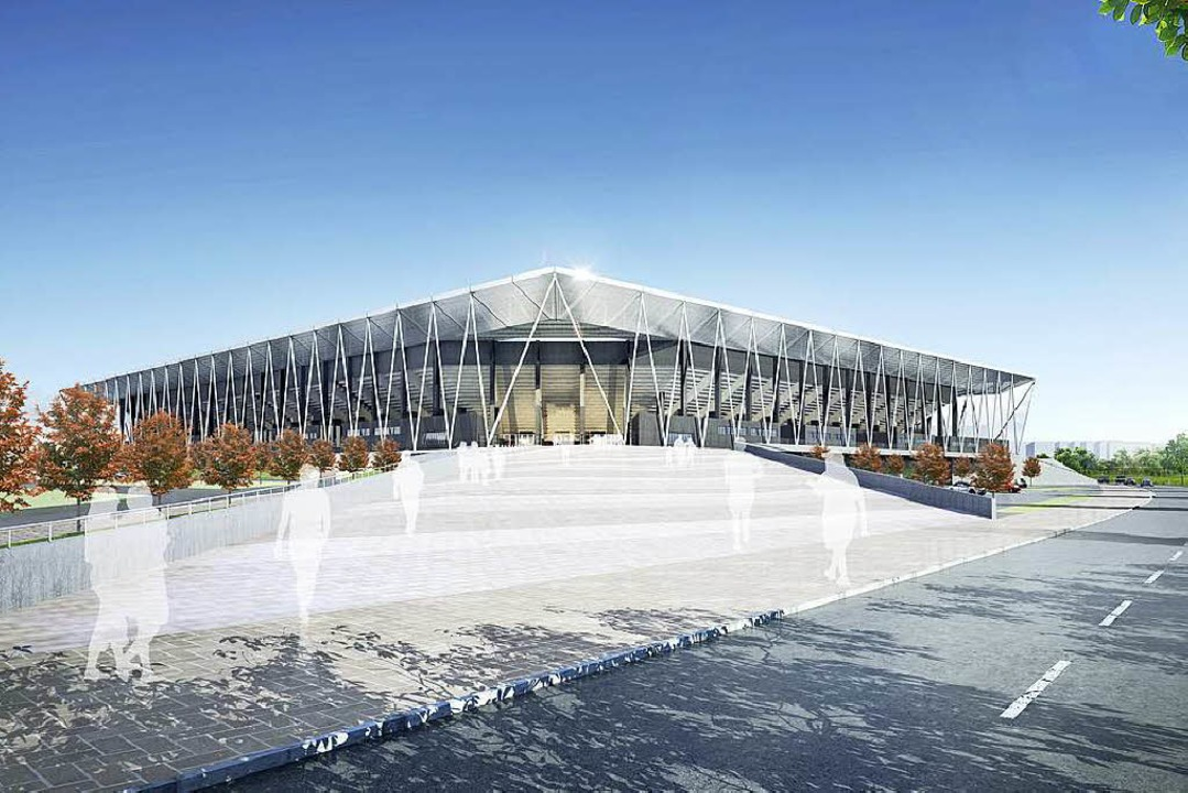 So soll das neue SC-Stadion aussehen.  | Foto: HPP Architekten/WillMore