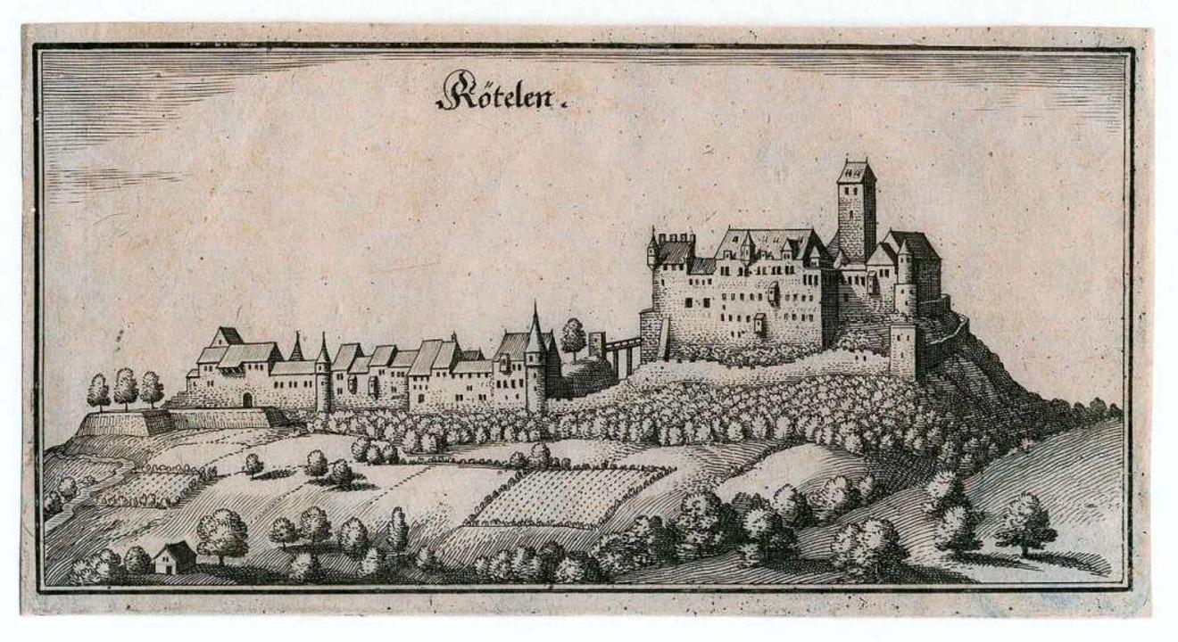 Die Burg Rötteln zur Zeit des Dreißigjährigen Krieges  | Foto: Peter Kunze