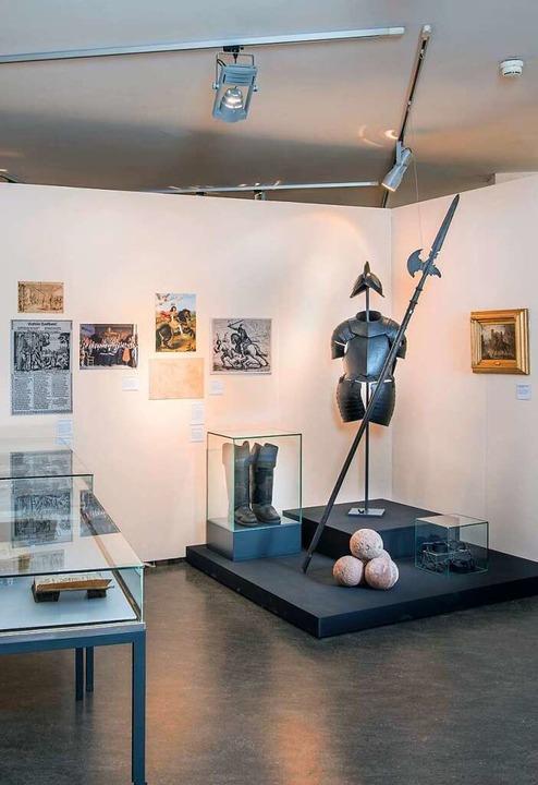 In diesem Raum des Dreiländermuseums e...her etwas über die Folgen des Krieges.  | Foto: Sabine Ehrentreich