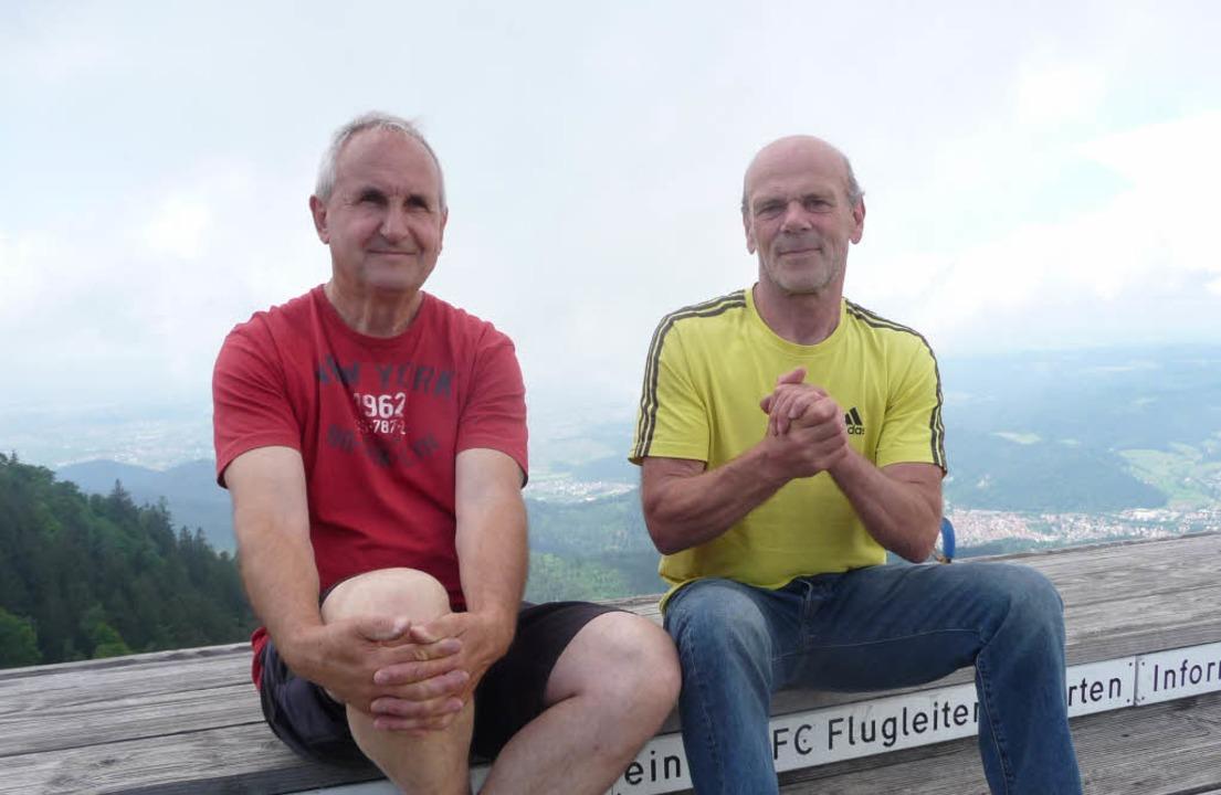 Klaus Kienzle und Nationalmannschaftsm...eständigen Westwind und gute Thermik.     Foto: Fotos: Russhardt