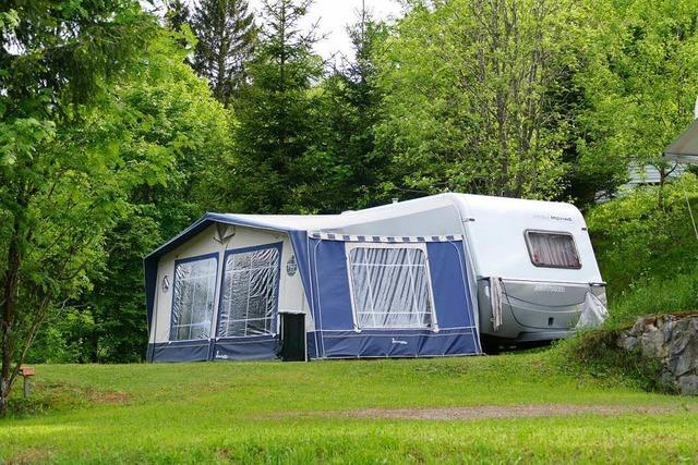 Auf dem Campingplatz Muggenbrunn beginnt der Sommerbetrieb