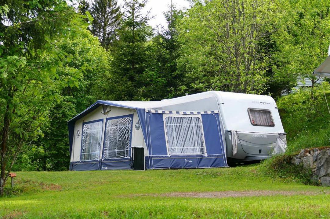 Große Freiheit: Der Campingplatz in Mu...ke, frische Luft und jede Menge Platz.    Foto: Sattelberger