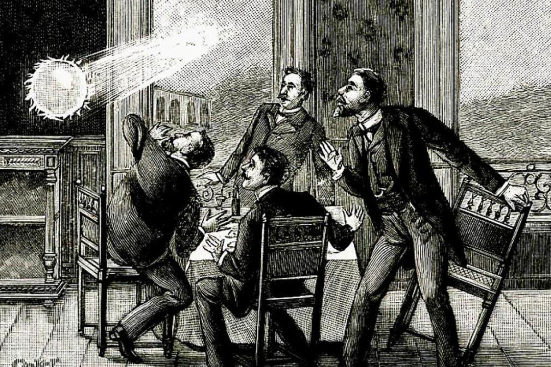 Darstellung eines Kugelblitzes aus dem 19. Jahrhundert  | Foto: bz