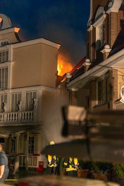 Brand im niederländischen Viertel.    Foto: Olaf Michel