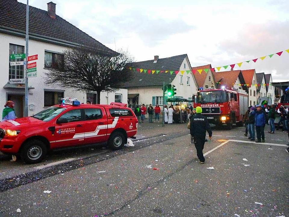 Die Feuerwehr Rheinhausen im Einsatz. (Archivbild).    Foto: Feuerwehr Rheinhausen