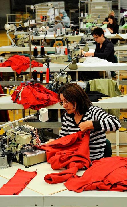 Trigema-Produktion in Burladingen    Foto: DPA