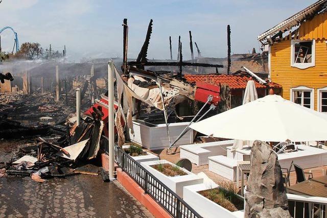 Im Europa-Park war am Sonntag fast alles wie immer – bis auf den Brandgeruch