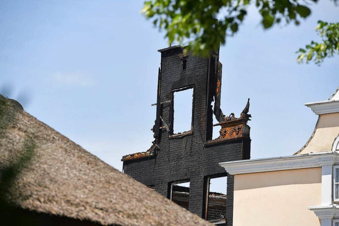 Brandschaden im niederländischen Bereich.  | Foto: dpa