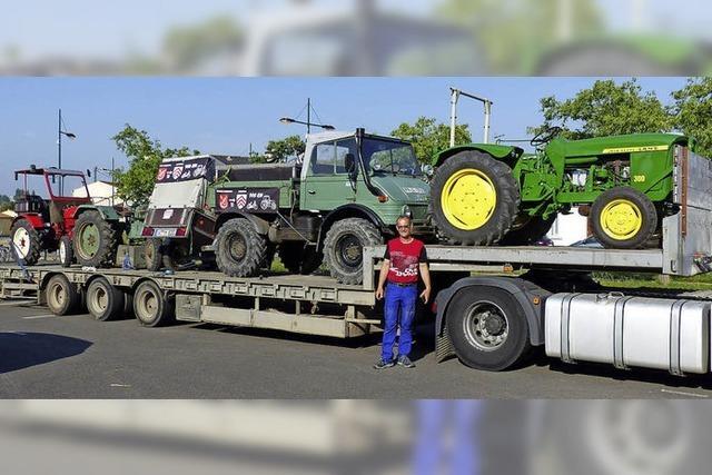 Rückfahrt war für die Oldie-Traktoren bequemer