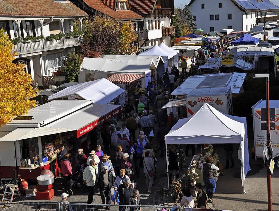 Der  Chilbimarkt wird in der  Bühlstraße bleiben.     Foto: Ursula Ortlieb