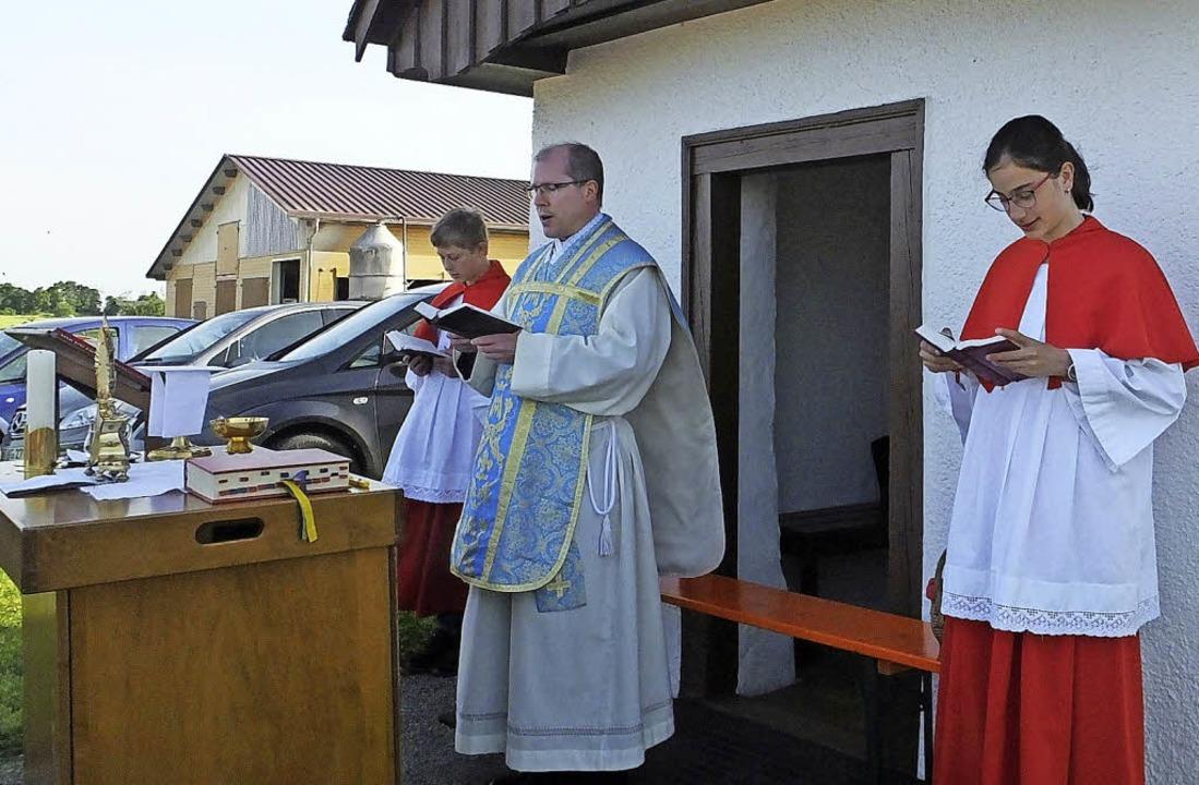 Den Patroziniumsgottesdienst an der Mü...en Gästen aus den Nachbargemeinden.     | Foto: Bruno Morath