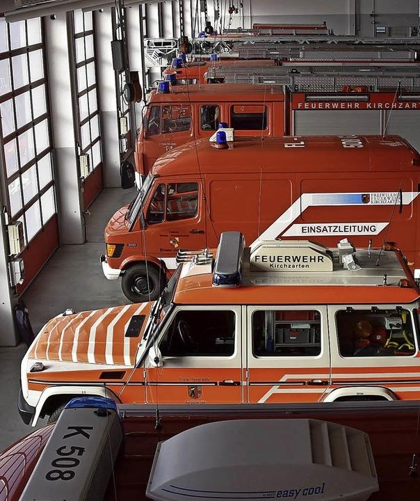 Blick ins Gerätehaus der Freiwilligen ... aber für die Aufgaben unverzichtbar.     Foto: Markus Donner