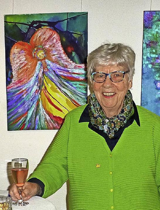 Helga Serrano Miksch feierte mit ihren...er evangelisch-lutherischen Gemeinde.   | Foto: Vera Winter