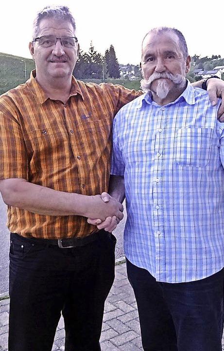 Edgar Straub (links) ist neuer Gruppen.... Georgen), der nicht mehr kandidierte  | Foto: Joachim Hahne