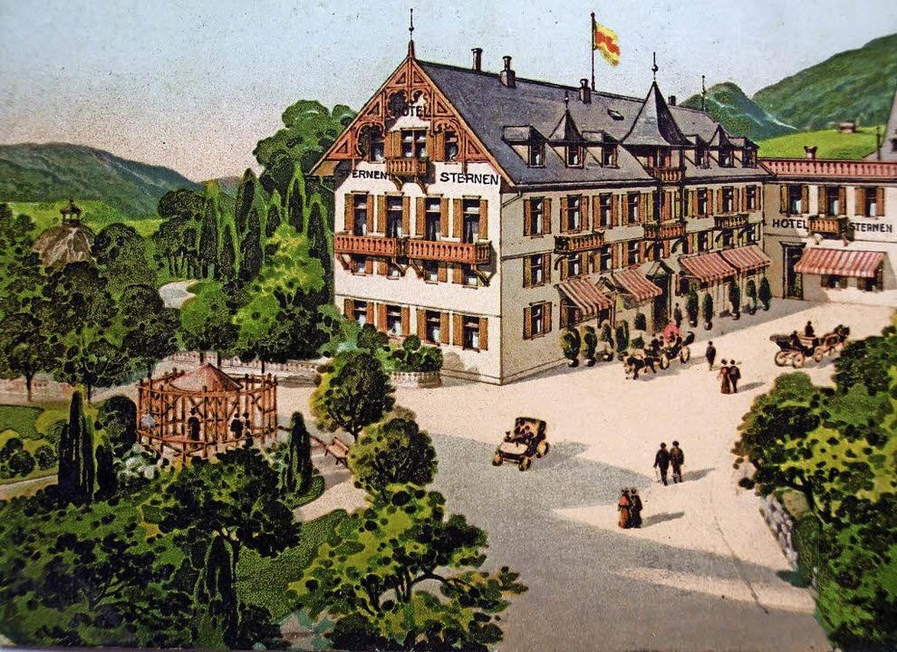 Das Hotel Sternen war Dreh- und Angelp...t Hilss waren die Motoren          .      Foto: Repro: Friedbert Zapf
