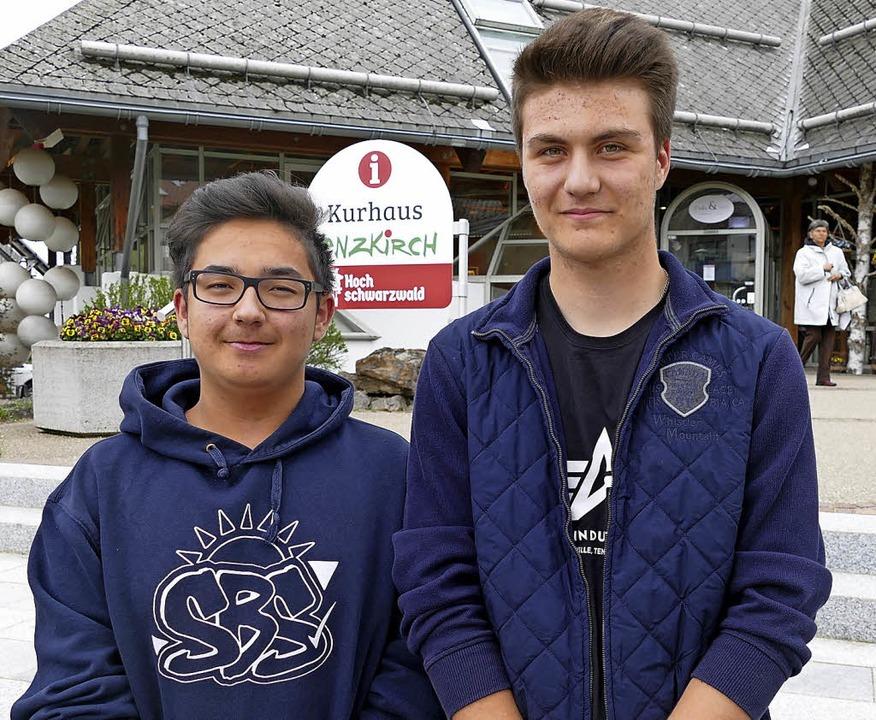 Die beiden gewählten Sprecher des Juge...onas Buxbaum (links) und Anis Mujcin.     Foto: Tobias Loibenböck