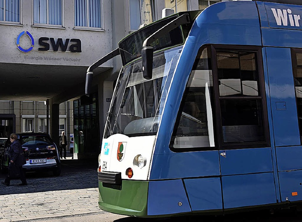 Straßenbahn in Augsburg    Foto: DPA
