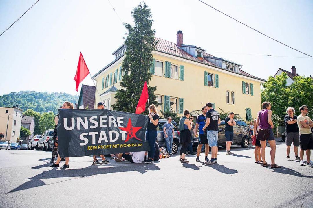 Protest gegen Wohnungsnot in Stuttgart  | Foto: dpa