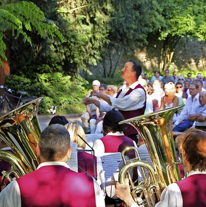 Konzert im Zwingerpark.     Foto: Heck
