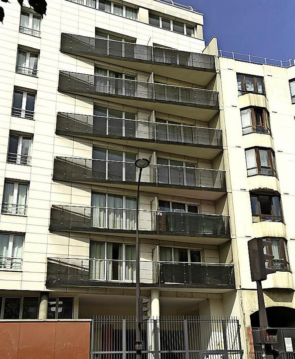 An diesem Haus hangelte sich Gassama in den vierten Stock.