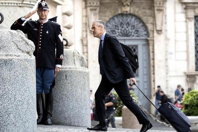 Finanzexperte soll Italien zur Neuwahl führen
