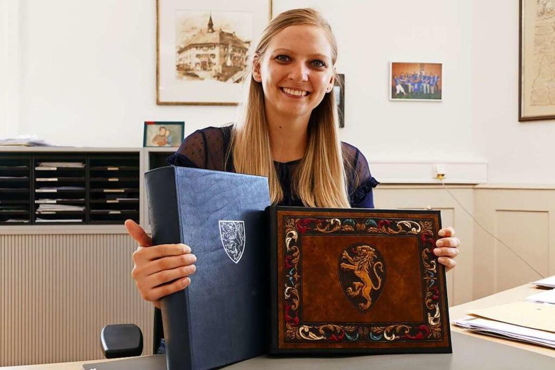 Alexandra Ruf, stellvertretende Haupta...maligen Bürgermeisters Peter Folkerts.    Foto: Stefan Limberger-Andris