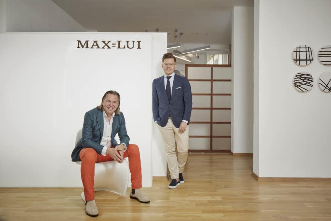 Markus Arenz und Marco Mesler vom Freiburger Modelabel Max Lui.  | Foto: Christoph Duepper für MAX LUI