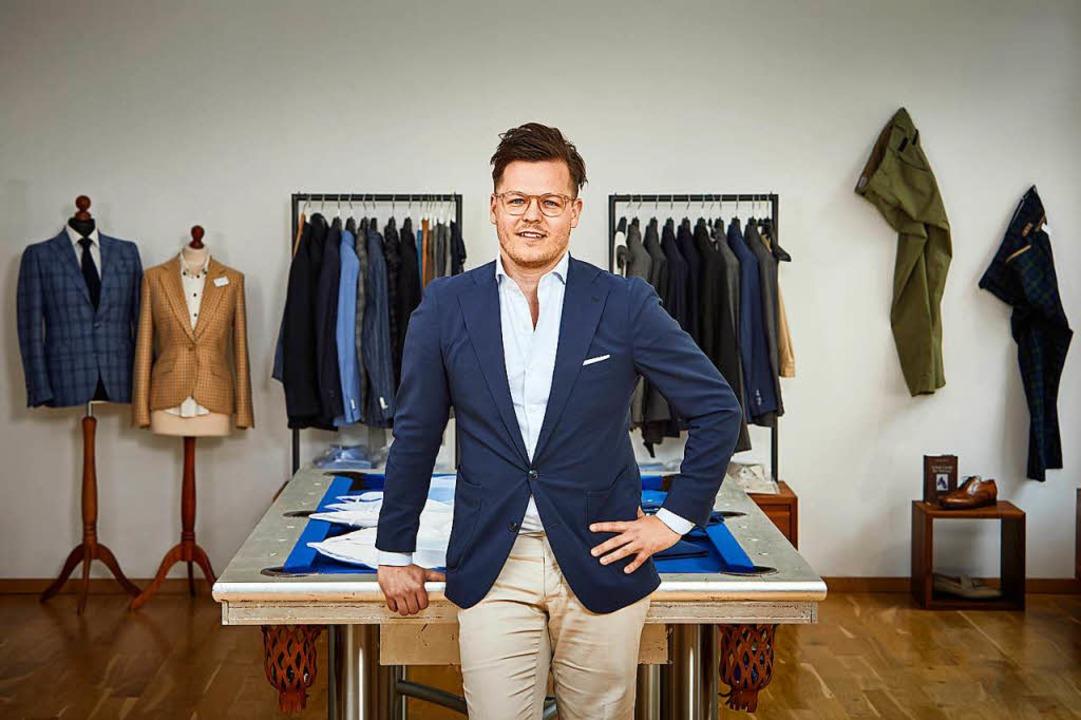 Marco Mesler kleidet für Max Lui Männe...en mit Lust auf individuelle Mode ein.    Foto: Christoph Duepper für MAX LUI