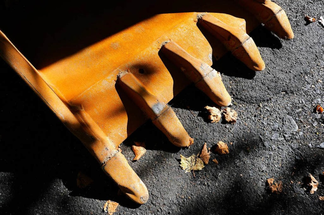 Mit einem Bagger hat ein Dieb eine Rüt...den und abtransportiert (Symbolbild).     Foto: Ingo Schneider